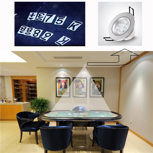Cheat poker spot light Monitoring lens,cheat device