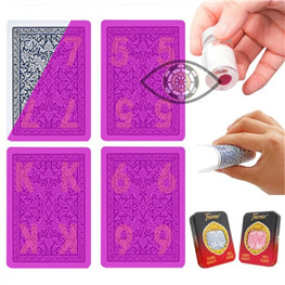 Invisible Poker Fournier Plastic Playing Cards Marked Cards for Perspective Glasses UV Contact Lense