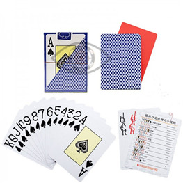 Perpsective Poker Cards Texas Hold Em Plastic Marked Cards Magic Glasses UV Contact Lenses Gamble Ch