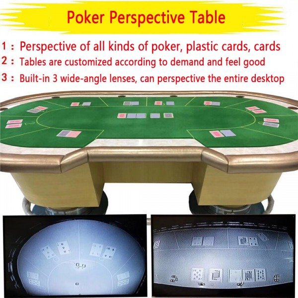 Perspective Table  Texas Hold'em Cheating Desk Sensor Board Poker Perspective Table