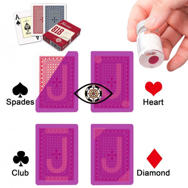 Fournier 818 invisible markers, used for cheating poker magic tricks casino cheats