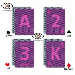 J.L. marked cheat poker|Bird 888 plastic Infrared perspective magic playing cards