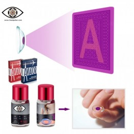 Marked cards contact lenses|Infrared perspective lenses for marked cheating poker