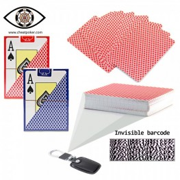 Marked cards barcode poker|plastic TEXAS HOLD'EM cheat poker
