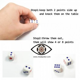 Magic dice|can roll certain numbers of points, cheat gamble device