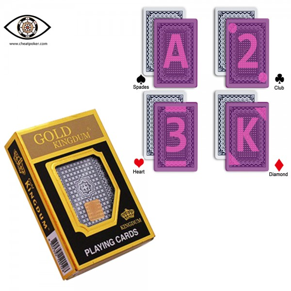 marked playing cards cheat poker