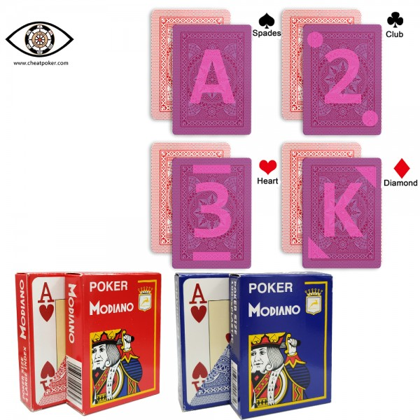 modiano infrared marked playing cards