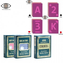Marked cards for Infrared contact lenses, QEACHI 406 marked cheat poker