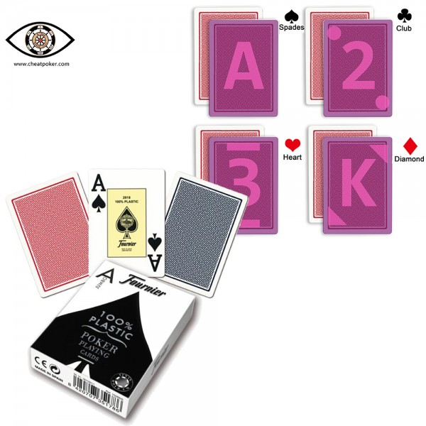 Marked cards for Infrared contact lenses,Fournier 55 cheat poker marked playing cards
