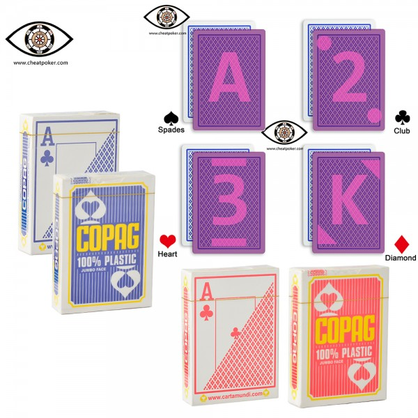 Infrared Marked Cards of COPAG for Contact Lenses|JL Cheat Poker