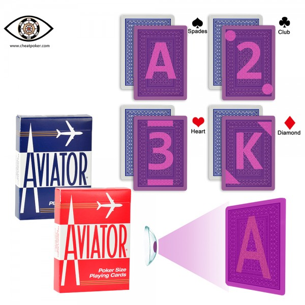 Infrared AVIATOR Marked Cards for Infrared Lenses | JL Cheat Poker