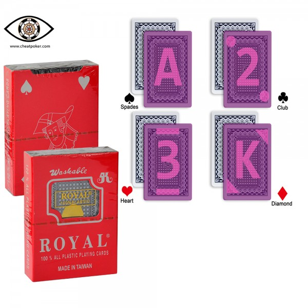 infrared royal marked cards cheat poker