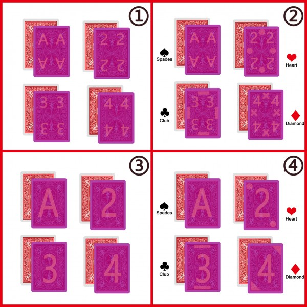 Infrared marked cards types