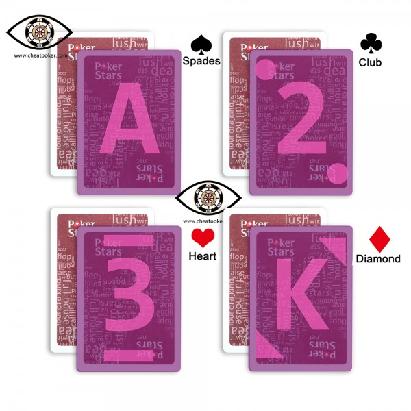 poker stars infrared marked cards type