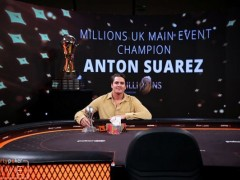 Anton Suarez won 1 million USD in the partypoker offline millions|Marked Playing Cards