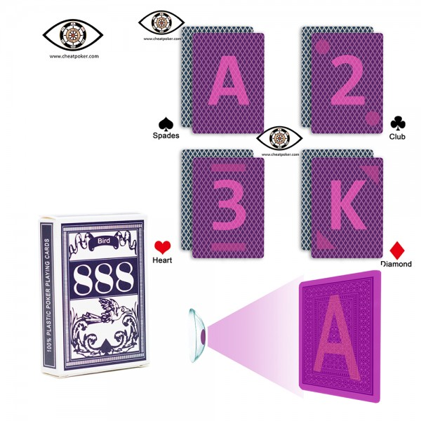 Infrared Marked Playing Cards of BIRD for Contact Lenses|JL Cheat Poker
