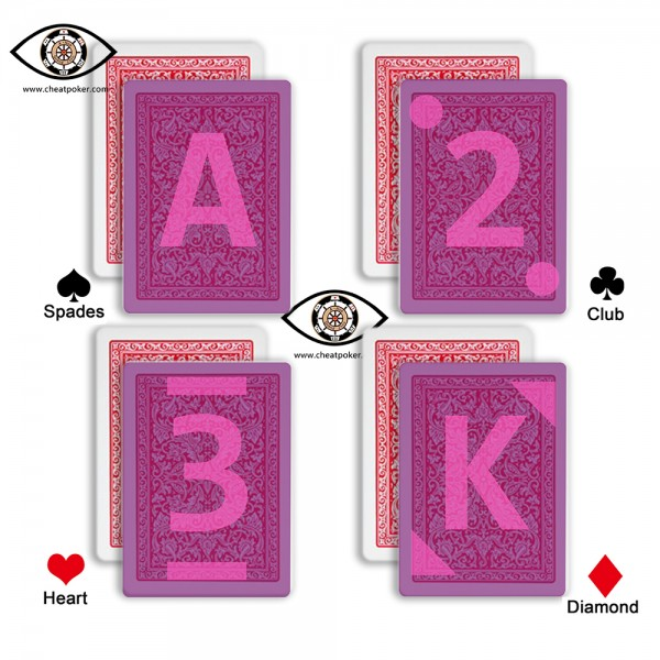 infrared marked cards of  fournier type