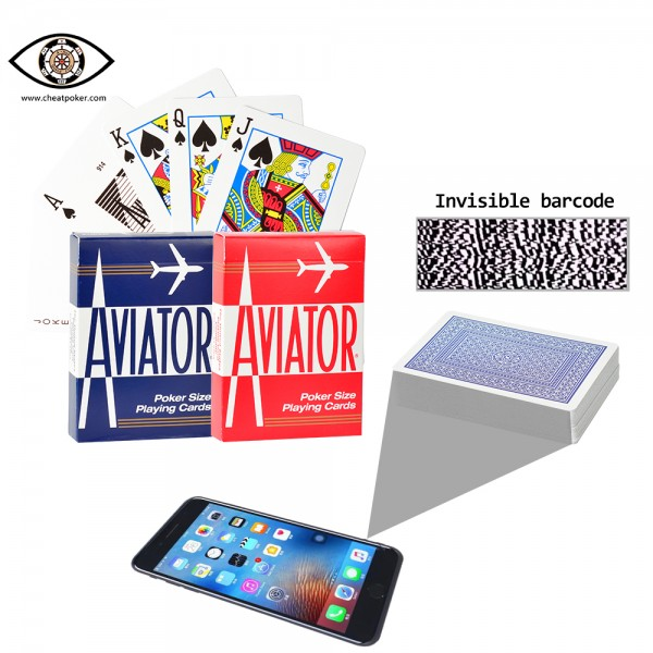 Barcode Marked Cards of AVIATOR