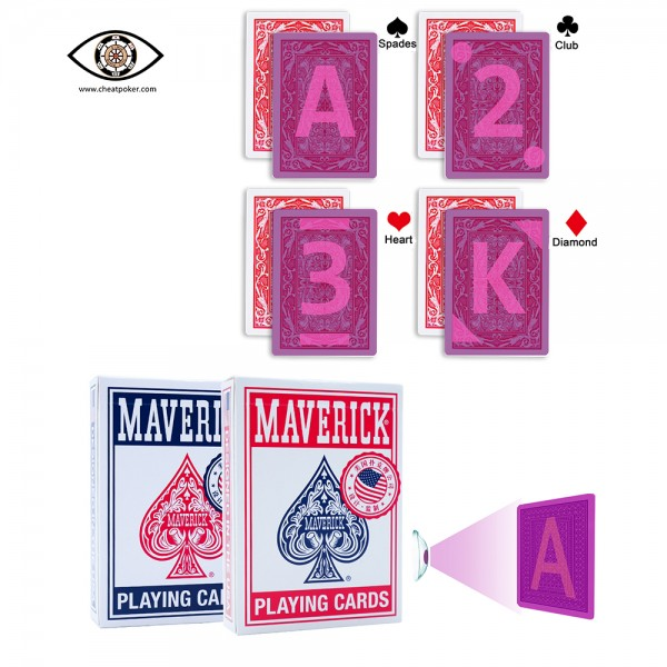 Maverick UV marked playing cards