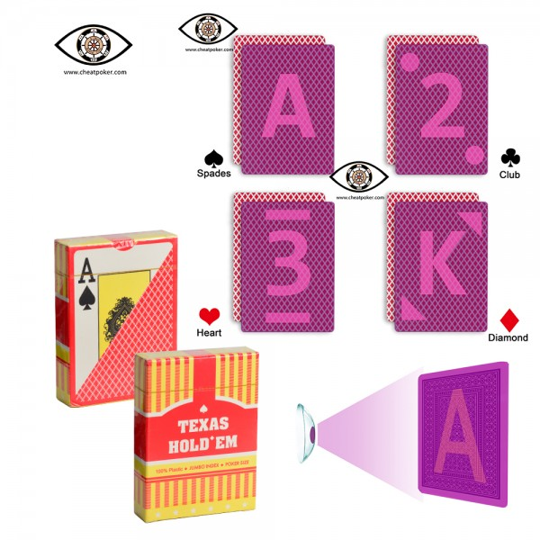 Texas hold'em UV marked playing cards