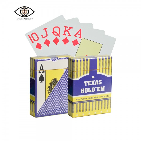 Texas hold'em marked playing cards