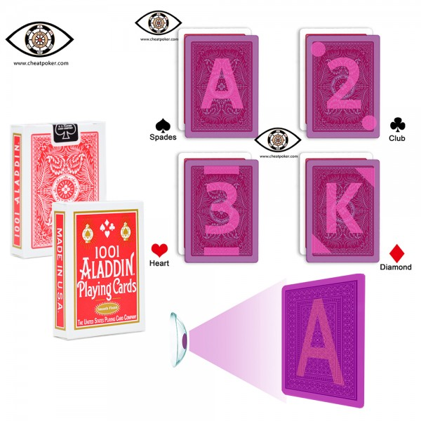 Aladdin Marked Playing Cards for Contact Lenses | Cheat Poker
