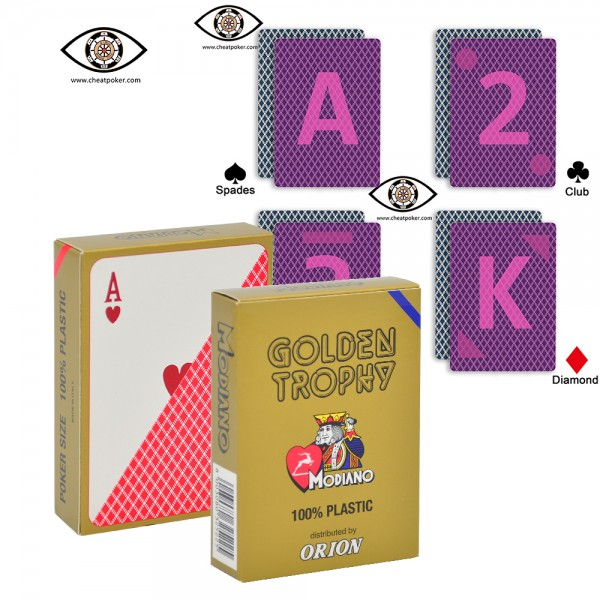 Poker Cheat Marked Cards | Modiano Golden Trophy | Cheating Devices