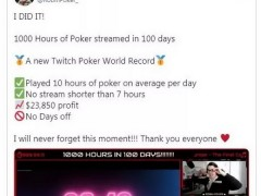 Liverpool Players Set Record for 1000 Hours of Live Poker in 100 Days
